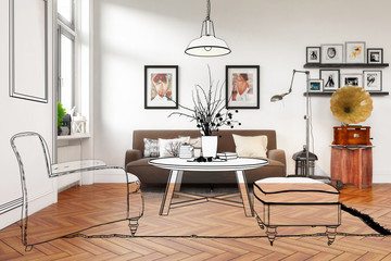 Modern Retro Style Furnishing (proposal)