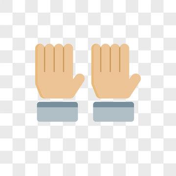 Raise hand vector icon isolated on transparent background, Raise hand logo design