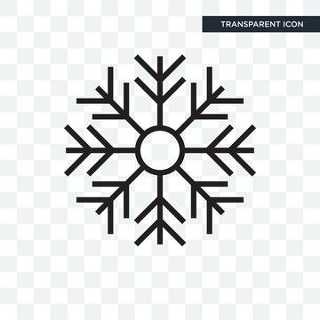 Snowflake vector icon isolated on transparent background, Snowflake logo design