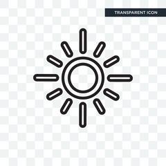 Sun vector icon isolated on transparent background, Sun logo design