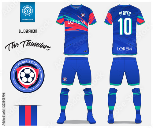 soccer jersey or football kit template design for football club