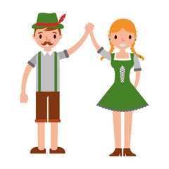 german couple with typical costume