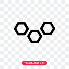 Molecular bond vector icon isolated on transparent background, Molecular bond logo design