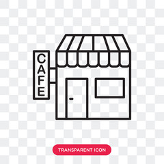 Cafe vector icon isolated on transparent background, Cafe logo design
