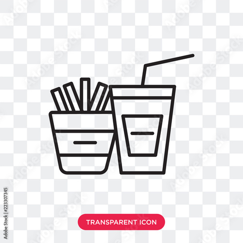 Snack vector icon isolated on transparent background, Snack
