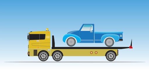 Slide on tow truck for emergency