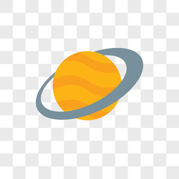 Planet vector icon isolated on transparent background, Planet logo design