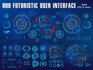 Futuristic virtual graphic touch user interface, target Sci-Fi Helmet HUD. Future Technology Display Design