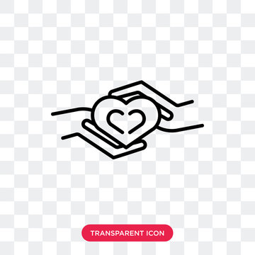 Charity vector icon isolated on transparent background, Charity logo design