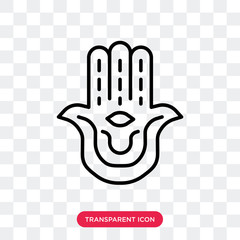 Hamsa vector icon isolated on transparent background, Hamsa logo design