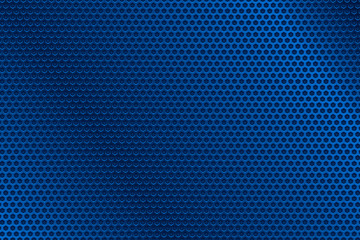 Blue metal perforated background