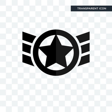air force vector icon isolated on transparent background, air force logo design