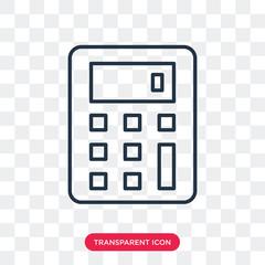 Calculator vector icon isolated on transparent background, Calculator logo design
