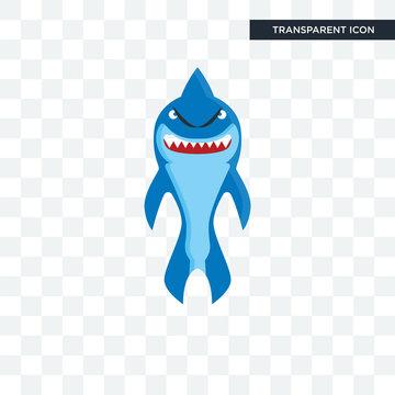 shark mascot vector icon isolated on transparent background, shark mascot logo design