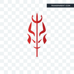 satan vector icon isolated on transparent background, satan logo design