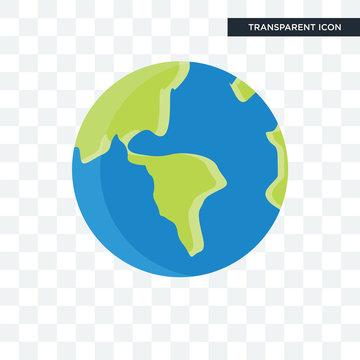 Globe vector icon isolated on transparent background, Globe logo design