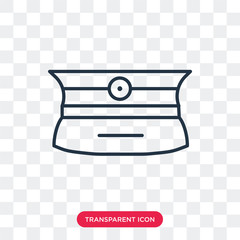 Police hat vector icon isolated on transparent background, Police hat logo design