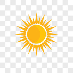 Sun vector icon isolated on transparent background, Sun logo design