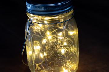 Solarlaterne mit LED Lichtern