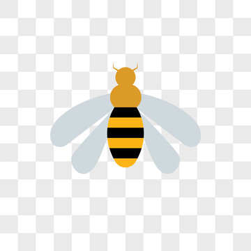 Wasp vector icon isolated on transparent background, Wasp logo design