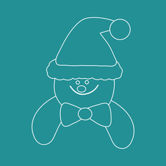 sketch of a snowman face