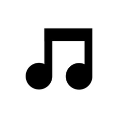 Music note icon for simple flat style ui design