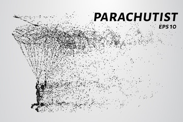 Parachutist of the particles.