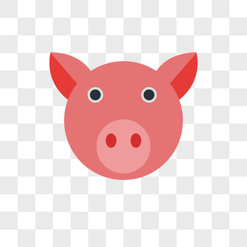 Pig vector icon isolated on transparent background, Pig logo design