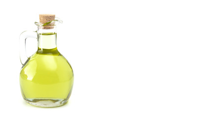 Extra Virgin Olive Oil in a Glass Corked Bottle