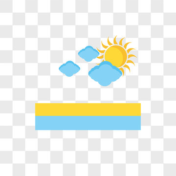 Cloudy vector icon isolated on transparent background, Cloudy logo design