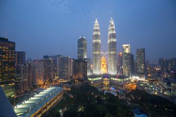 Canvas Prints Kuala Lumpur asia city by night