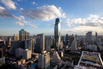 bangkok by day with clouds