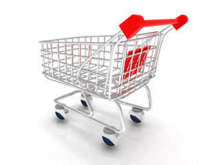 shopping cart 3d icon