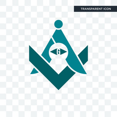 freemasons vector icon isolated on transparent background, freemasons logo design