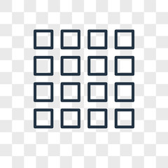 Thumbnails vector icon isolated on transparent background, Thumbnails logo design
