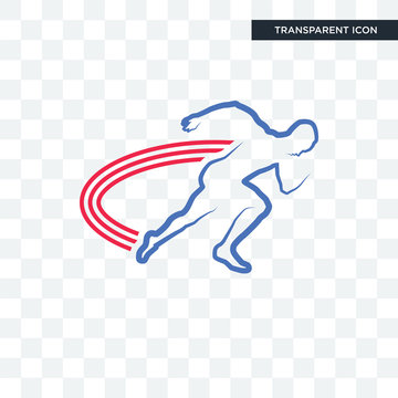 track and field vector icon isolated on transparent background, track and field logo design