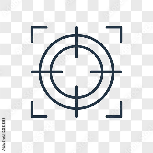 Target Vector Icon Isolated On Transparent Background Logo Design