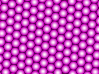 Abstract pattern from balls on a purple gradient dark surface