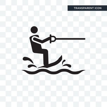 Water Ski vector icon isolated on transparent background, Water Ski logo design