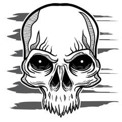 Skull Handdrawing tattoo style grafiti