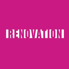 rénovation, mot vecteur