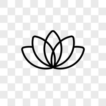 Lotus vector icon isolated on transparent background, Lotus logo design