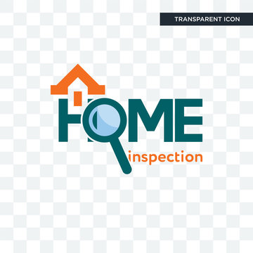 home inspection vector icon isolated on transparent background, home inspection logo design