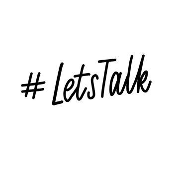Lets talk - hand lettering vector.