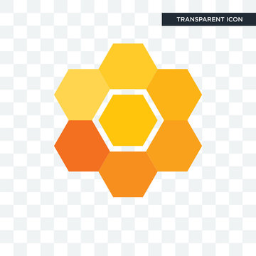 honeycomb vector icon isolated on transparent background, honeycomb logo design