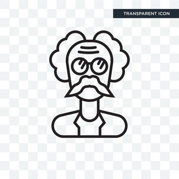 Einstein vector icon isolated on transparent background, Einstein logo design