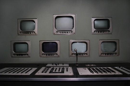 Monitoring and spying room of the 90s.