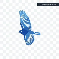 bird vector icon isolated on transparent background, bird logo design