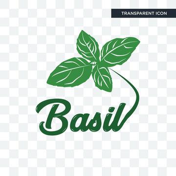 basil vector icon isolated on transparent background, basil logo design