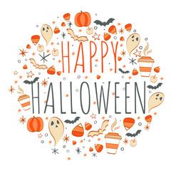 Happy Halloween background design vector illustration